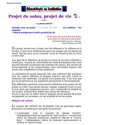 Projet de soins - Projet de vie