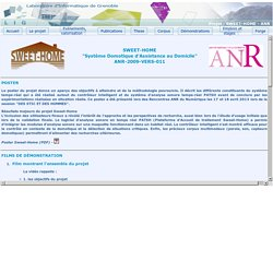 Projet SWEET-HOME - ANR