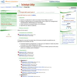Projet défi code Cycle 3- Technologie Collège