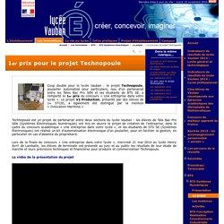 1er prix pour le projet Technopoule - Lycée VAUBAN - Brest -