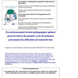 Environnement techno-pédagogique optimal (ETPO)