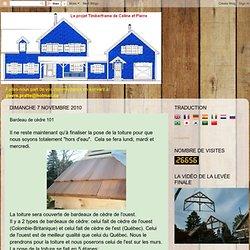 """Le projet """"Timber Frame"""" de Céline et Pierre: Bardeau de cèdre 101"""