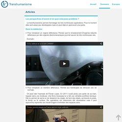 Projet TPE : transhumanisme