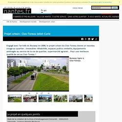 Projet urbain : Clos-Toreau Joliot-Curie
