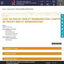 Chef de projet Web et Webmarketing