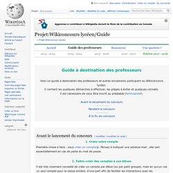 Projet:Wikiconcours lycéen/Guide