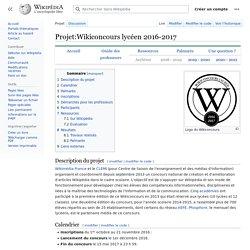Projet:Wikiconcours lycéen 2016-2017