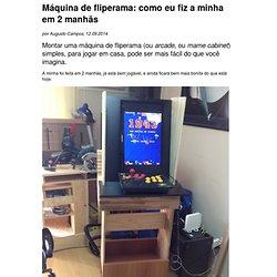 Projeto de máquina de fliperama