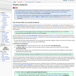 Projets Audacity - Audacity Manual