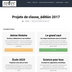 Projets de classe, édition 2017 – REFER