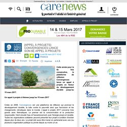 [APPEL À PROJETS] Convergences lance son 6e appel à projets - Carenews