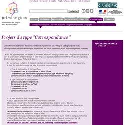 "Projets du type ""Correspondance """