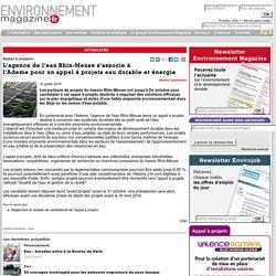 Appel à projets - L'agence de l'eau Rhin-Meuse s'associe à l'Ademe pour un appel à projets eau durable et énergie
