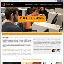 Les Projets jeu vidéo par nos étudiants qui se forment aux métiers du jeu vidéo
