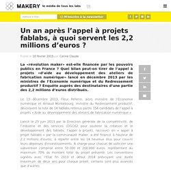 Un an après l'appel à projets fablabs, à quoi servent les 2,2 millions d'euros ?