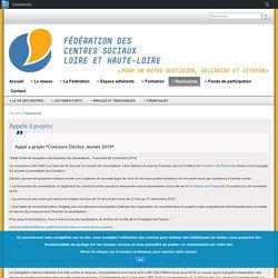 Appels à projets – Fédération des centres sociaux de la Loire et de la Haute-Loire