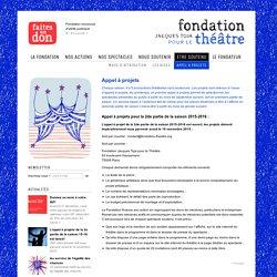 Appel à projets - Fondation Jacques Toja pour le théâtre