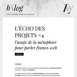 L'Écho des projets #4 - l'usage de la métaphore pour parler franco-web