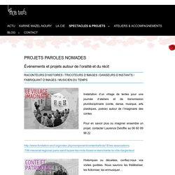 Projets Paroles Nomades – Les mots tissés