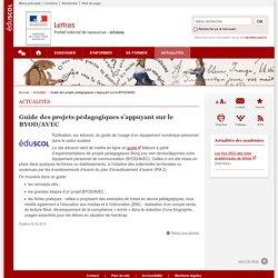 Guide des projets pédagogiques s'appuyant sur le BYOD/AVEC-Lettres-Éduscol