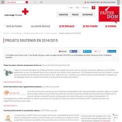 Projets soutenus en 2014/2015