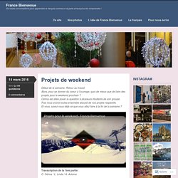 Projets de weekend