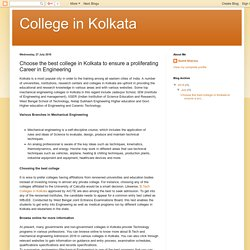 College in Kolkata: Choose the best college in Kolkata to ensure a proliferating Career in Engineering
