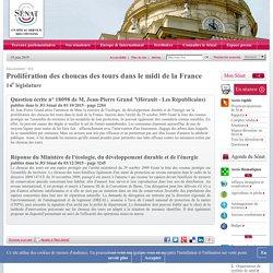 JO SENAT 03/12/15 Réponse à question N°18098 Prolifération des choucas des tours dans le midi de la France