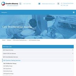 Cell Proliferation Assays - Creative Bioarray