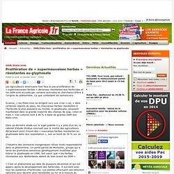 OGM/Etats-Unis : prolifération de «supermauvaises herbes» résistantes au glyphosate