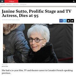 Janine Sutto Dead: Prolific Stage and TV Actress Was 95