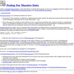 Prolog For Massive Data