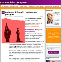 Prologue d'Antigone (Anouilh) : analyse