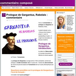 Prologue de Gargantua : analyse
