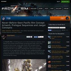 Nunca antes visto Pacific Rim Obra Concept, seqüências prólogo e Jaeger Conceitos!