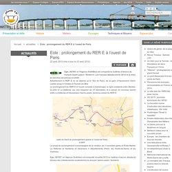 Eole: prolongement du RER E à l'ouest de Paris