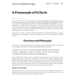 A Promenade of PyTorch – Peter Goldsborough