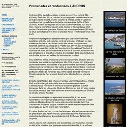 Promenades et randonnées a Andros