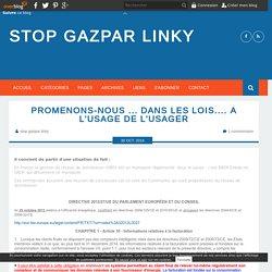 Promenons-nous ... dans les lois.... A l'usage de l'usager - stop gazpar linky