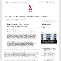 Éditorial : La promesse des biens communs - Attac France