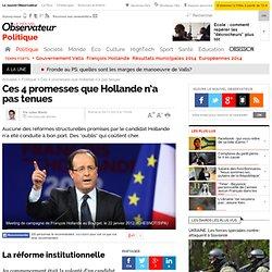 Ces 4 promesses que Hollande n'a pas tenues