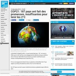 COP21: 187 pays ont fait des promesses, insuffisantes pour tenir les 2°C