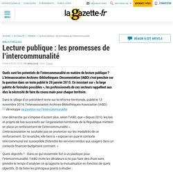 Lecture publique : les promesses de l'intercommunalité