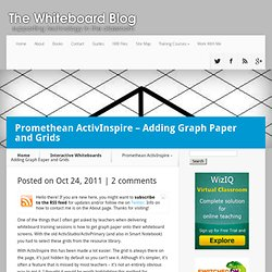 Promethean ActivInspire - Adding Graph Paper and Grids