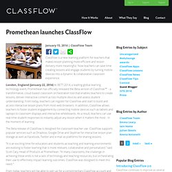 Promethean launches ClassFlow