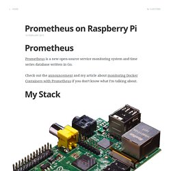Prometheus on Raspberry Pi