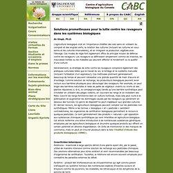 Solutions prometteuses pour la lutte contre les ravageurs dans les systèmes biologiques