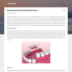 Prominences Of Preferring Partial Dentures