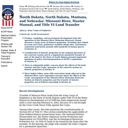 05.06.02 Standing Rock Sioux Prominent Section 106 Cases: Winter 2002