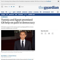 Tunisia and Egypt promised G8 help on path to democracy